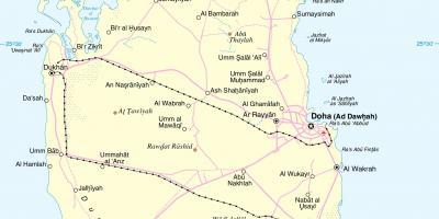 Qatar Map Kartor Qatar Vastra Asien Asien